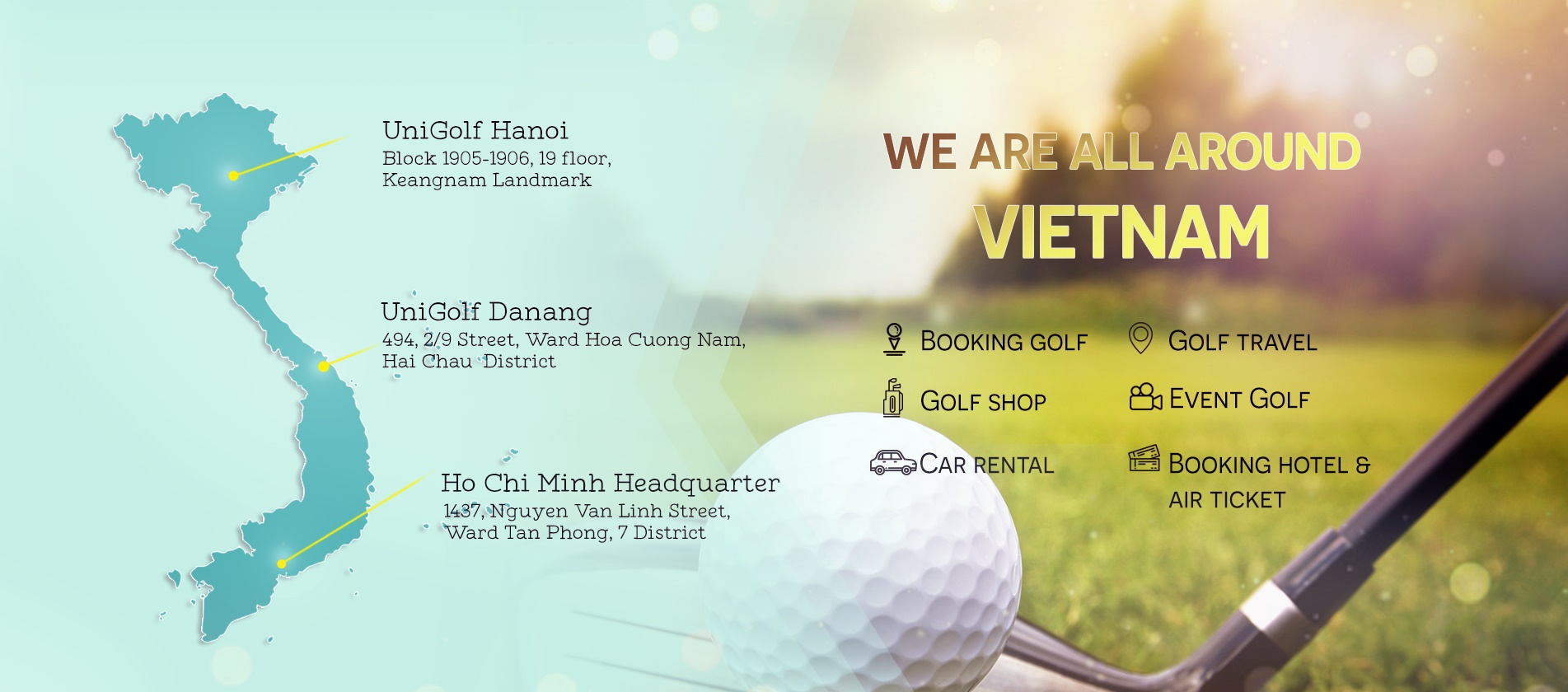 United Golf - JUST PLAY, WE HANDLE THE REST