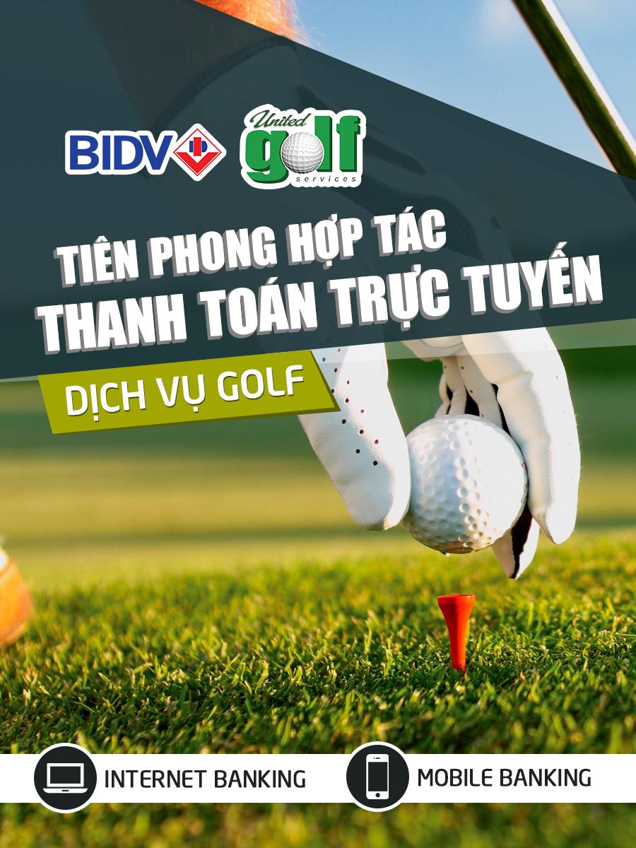 UniGolf và BIDV tiên phong hợp tác thanh toán trực tuyến dịch vụ golf