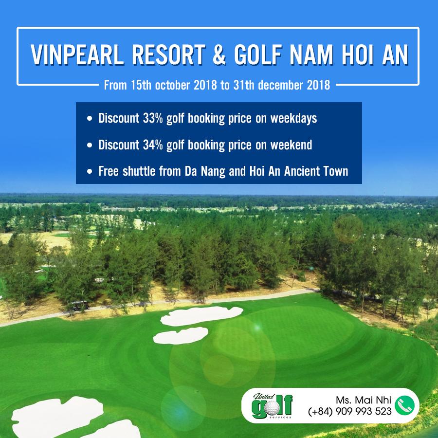 Vinpeal golf nam hoi an, nam hoi an resort, booking golf, booking tea time