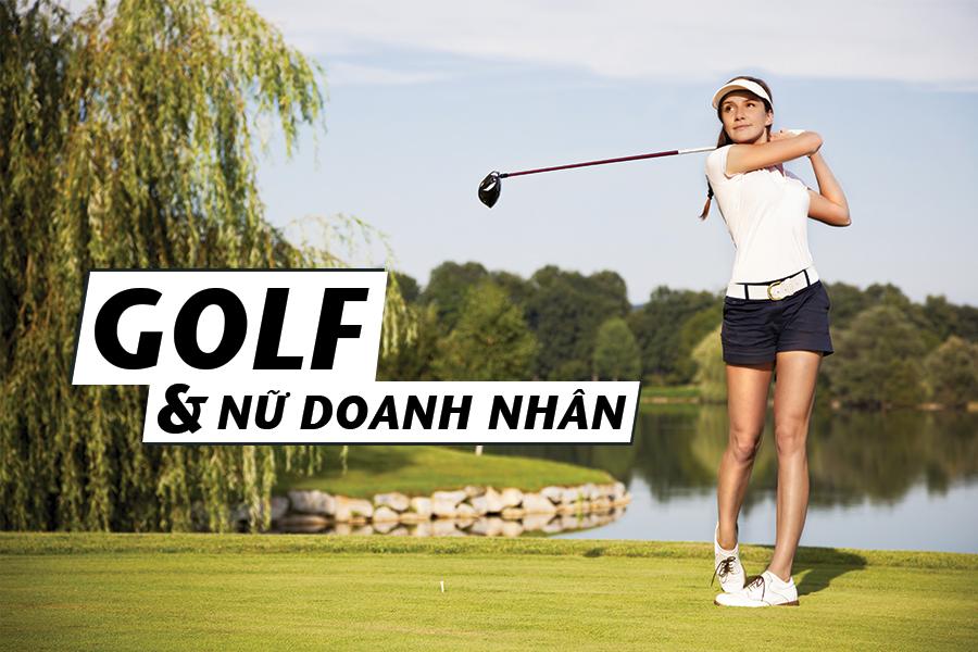 golf và nữ doanh nhân