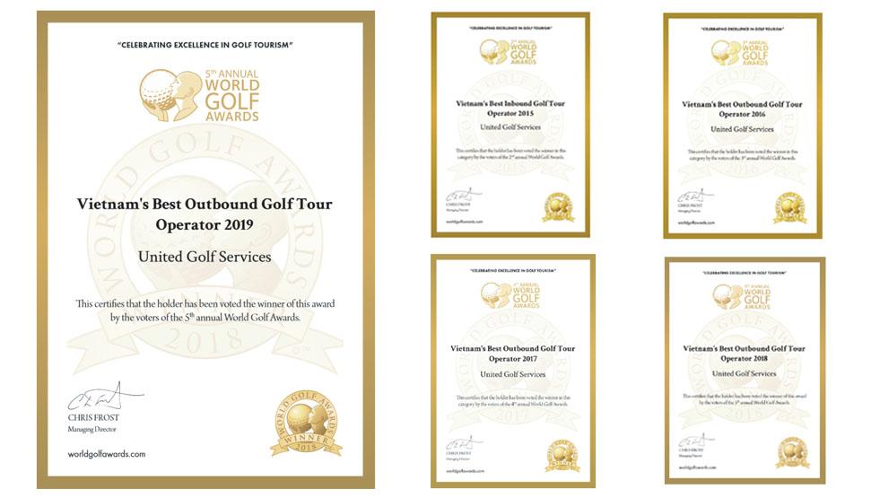 UniGolf 5 năm liên tiếp nhận giải thưởng Nhà Điều hành Golf Tour tốt nhất Việt Nam