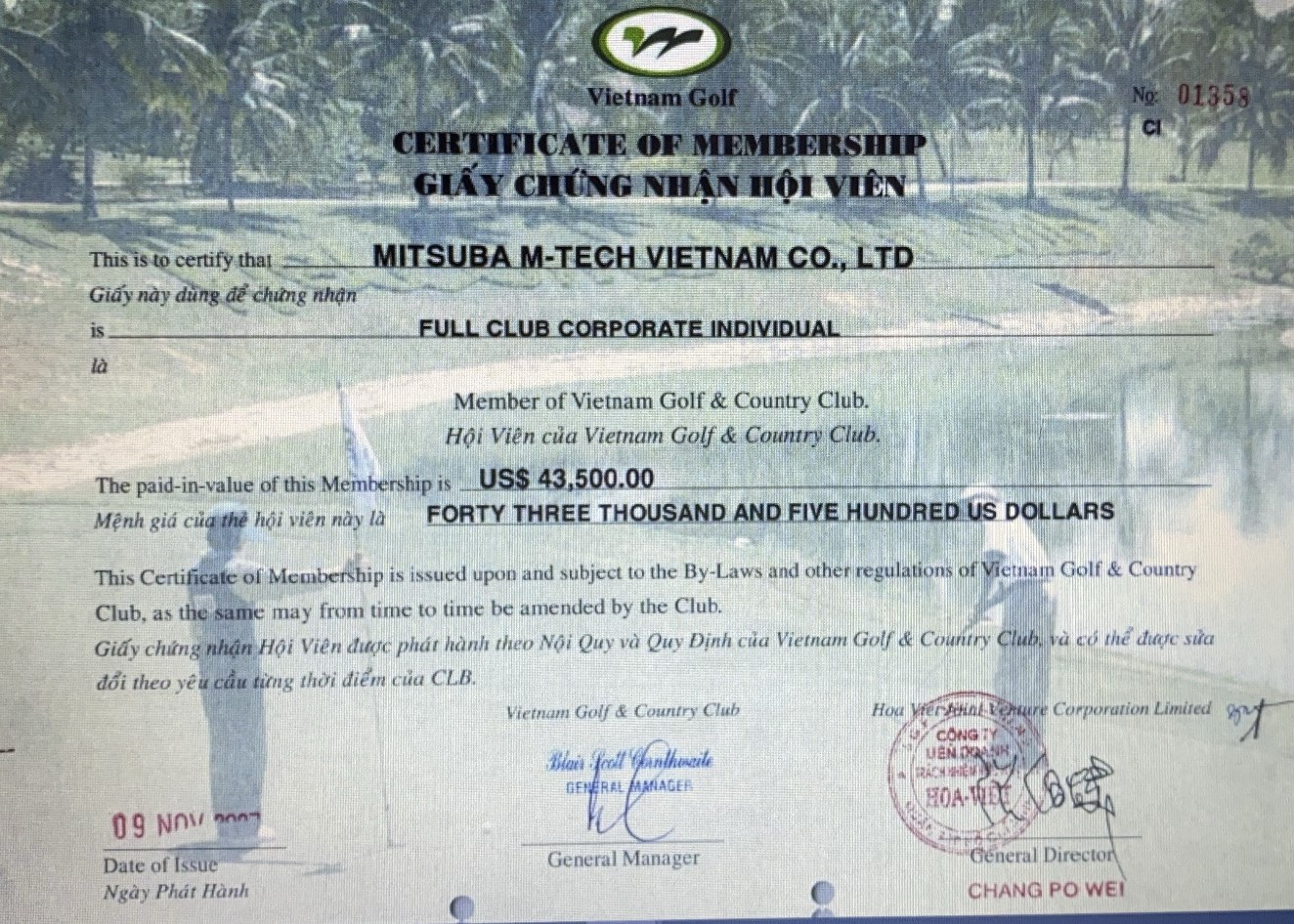 Membership Transfering – Vietnam Golf And Country Club